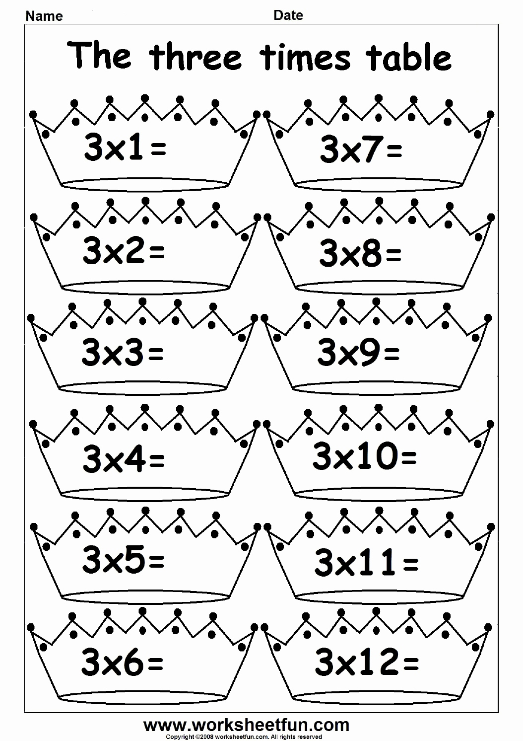 Arbeitsblatter Fur Vorschulkinder Luxus 2 3 4 5 6 7 8 9 10 11 and 12 Times Table Fun Times Table