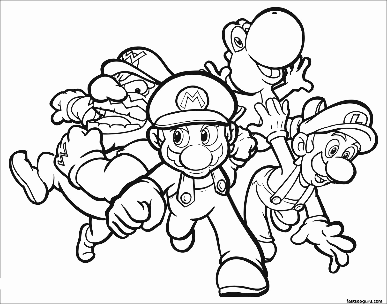 Ausmalbilder Super Mario Genial Coloring Printing Pages New Coloring Color Printable Pages 20