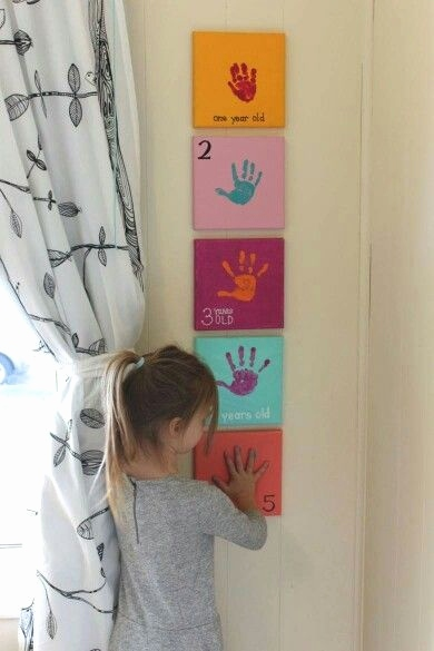 Baby Gruskarten Genial Yearly Handprints as they Grow A Must & so Cute to Decorate with