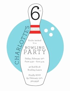 Bowling Party Einladung Best Bowling Invitation Template Fresh Bowling Birthday Party Invitations