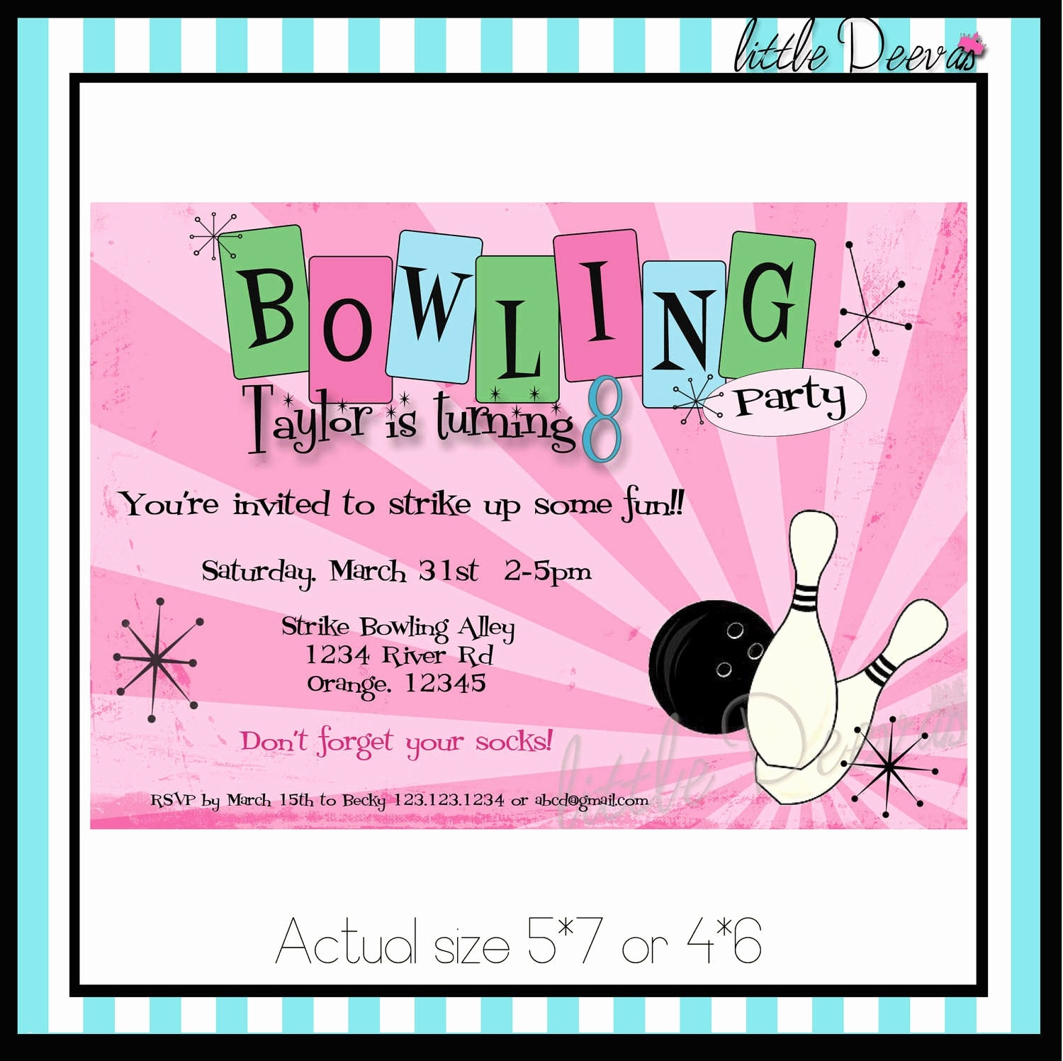 Bowling Party Einladung Inspirierend Bowling Birthday Party Invitation Template Reference 34 Best Kids