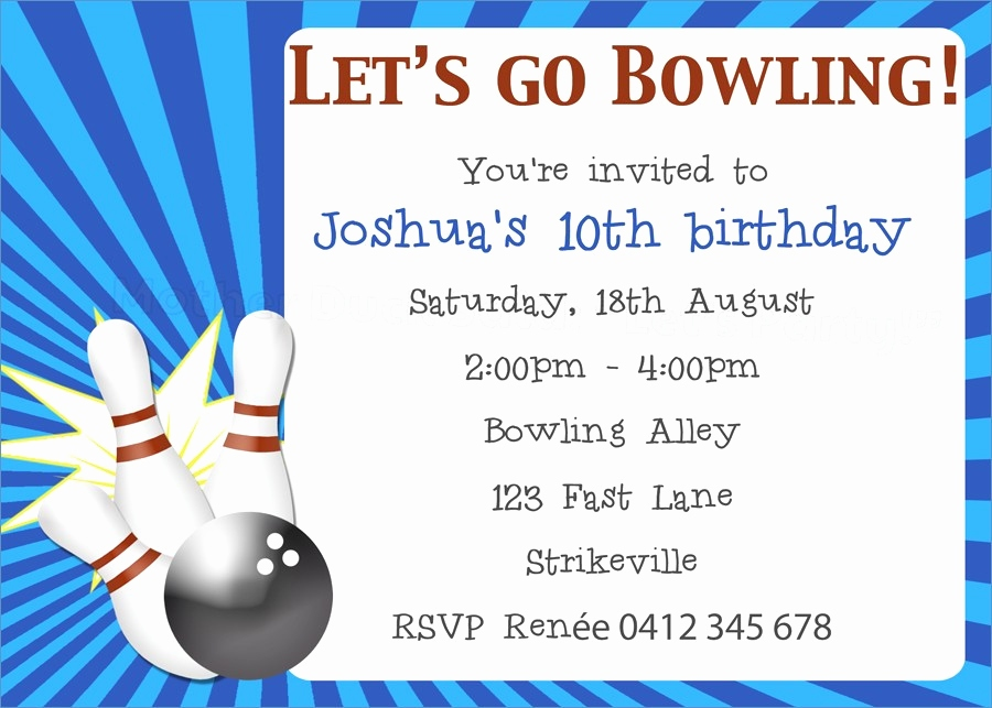 Bowling Party Einladung Inspirierend Bowling Invitation Template Unique 38 Beautiful Pics Free Printable
