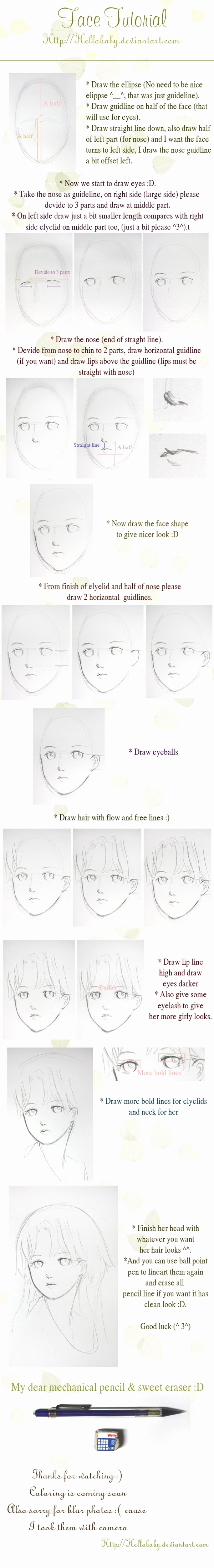Comic Zeichnen Lernen Neu Face Tutorial by Hellobaby On Deviantart How to Draw Anime Face