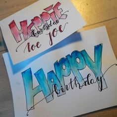 Dm Geburtskarten Schön 9 Best Handlettering Happy Birthday Images On Pinterest