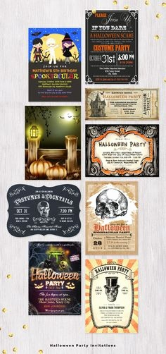Einladung Zur Halloweenparty Schön Spooktacular Halloween Party Invitation