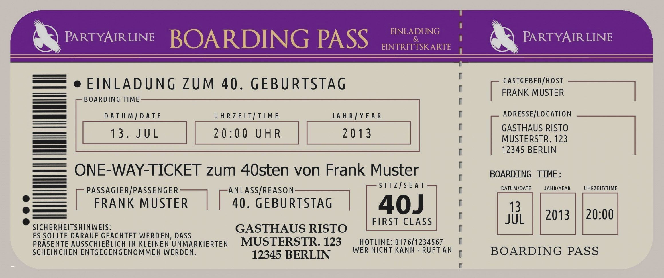 Einladungskarten Boarding Pass Best Cornelia Haase Cornelia1204 On Pinterest