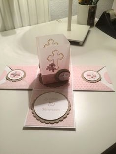 Einladungskarten Kommunion Dm Best Box Kommunion Stampin Stempelhexe Pop Up Cards Pinterest