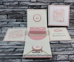 Einladungskarten Kommunion Dm Genial Box Kommunion Stampin Stempelhexe Pop Up Cards Pinterest