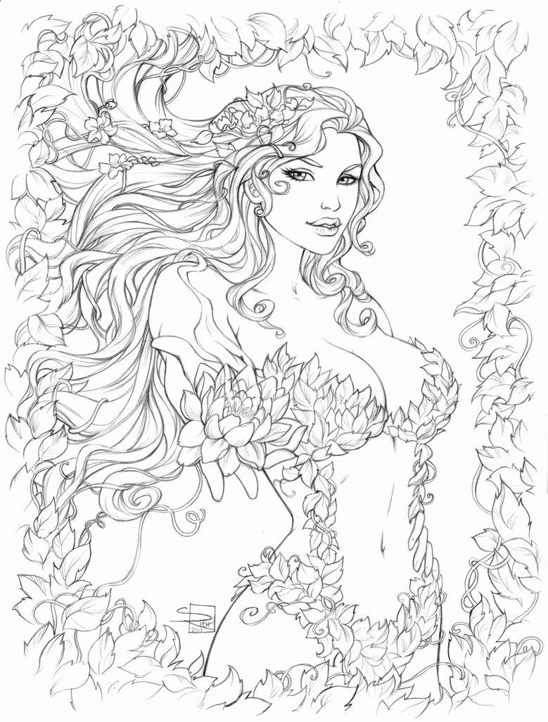 Engel Ausmalbilder Zum Ausdrucken Best Poison Ivy Pencils by Sabinerich On Deviantart