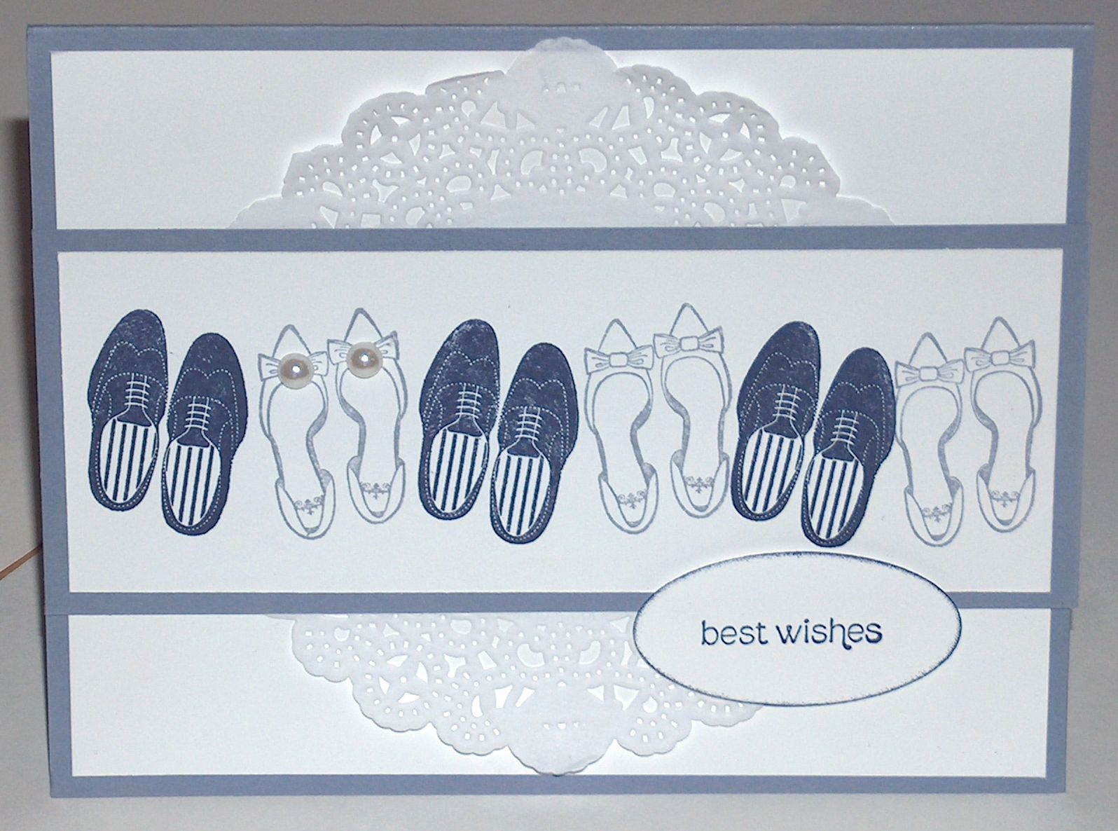 Faltkarten Quadratisch Luxus Just Married Stamp Set by Stampin Up I Just Love these Shoes and