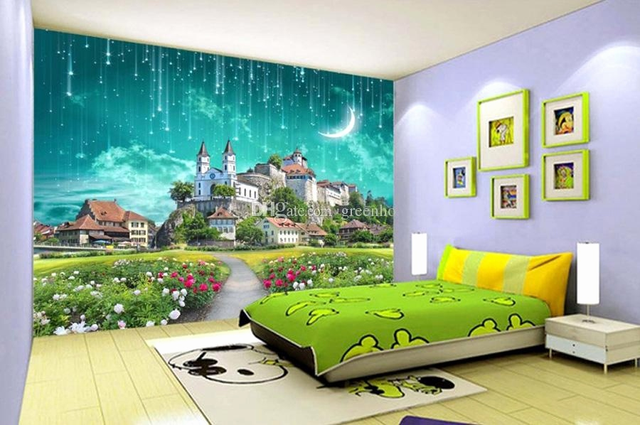 Fantasy Bilder Kostenlos Elegant 3d Galaxy Wallpaper Fantasy Castle Wall Mural Custom Wallpaper