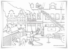 Feuerwehrauto Zum Ausmalen Einzigartig 60 Best Sports Occupations Coloring Pages Images On Pinterest In
