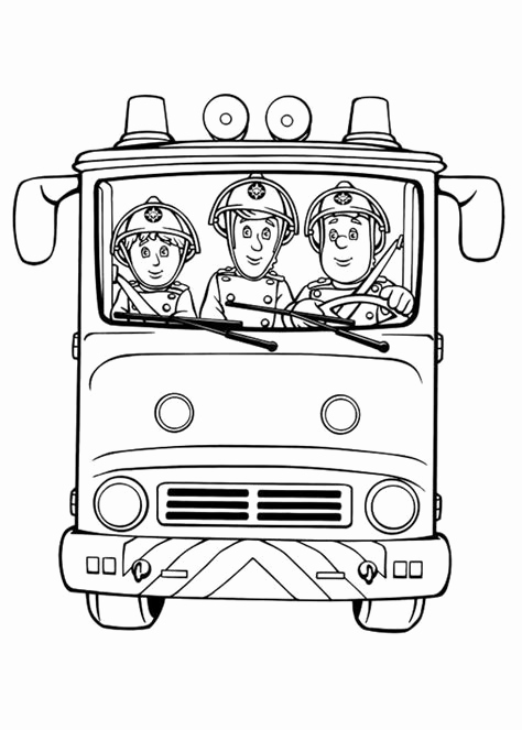 ▷ Fireman Sam: Coloring Pages & Books - 100% FREE and printable! | 663x474