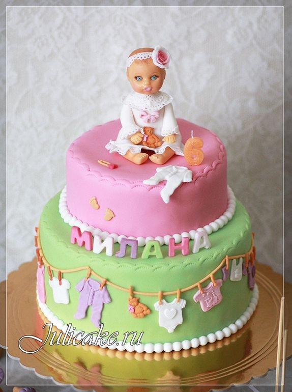 Geburtstagstorte Fur Kleinkinder Luxus Cakes for Girl Baby Shower Pin by Petra Petak torte Od Pelena