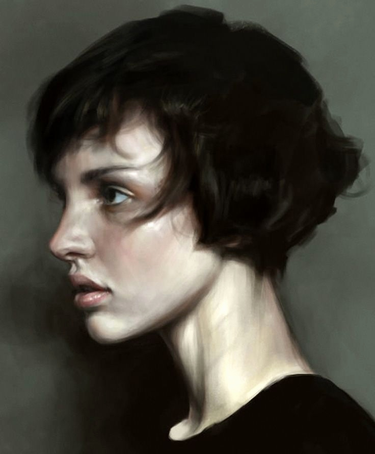 "Gesicht Im Profil Zeichnen Inspirierend Short Hair"" Mohamed Gambouz Figurative Realism Art Female Head"