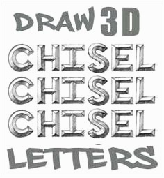 Graffiti Buchstaben 3d Frisch 3 D Letters Draw Cool 3d Letters that Appear to Pop Out the Page