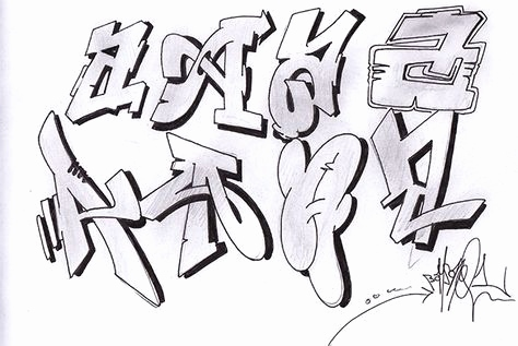 Graffiti Buchstaben 3d Inspirierend Mr Wiggles Karate Alphabet 2 Tattoo Images T Graffiti