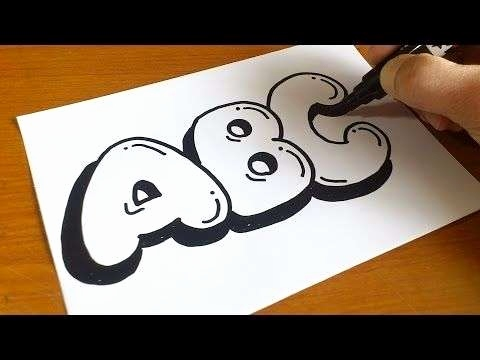 Graffiti Schrift 3d Einzigartig How to Draw 3d Letters Luxury Very Easy How to Draw Graffiti Bubble