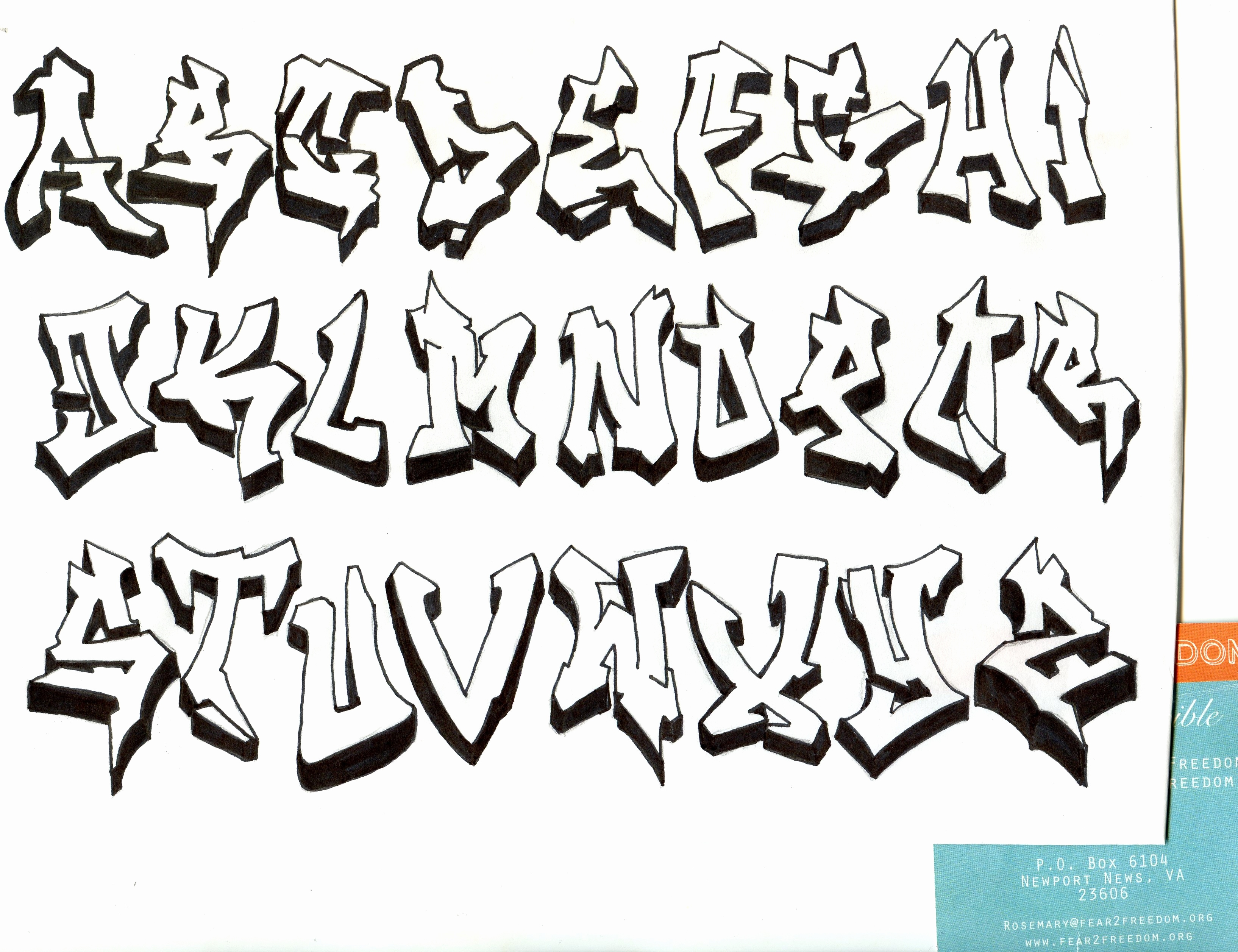 Graffiti Schrift 3d Luxus Graffiti Alphabet 3d Wildstyle Archidev