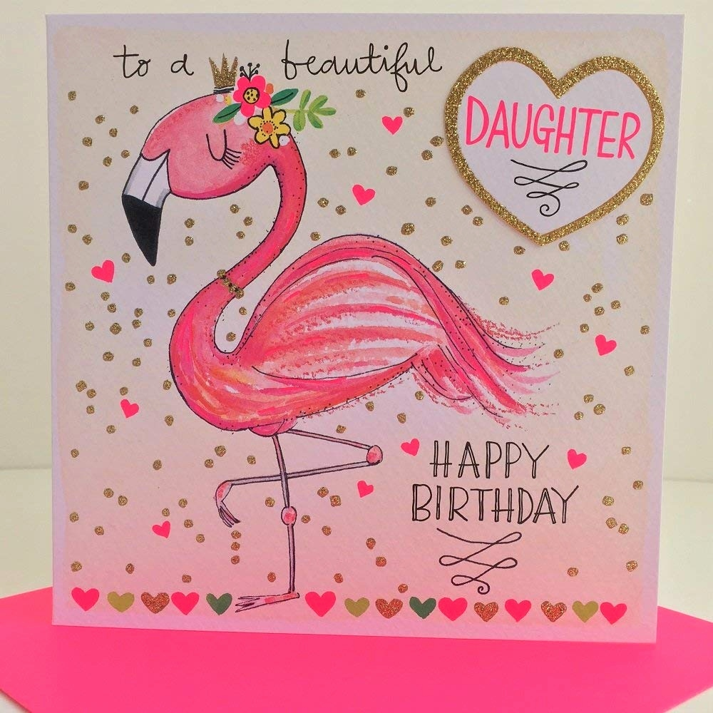 Gutschein Zum Essen Gehen Text Schön Rachel Ellen Flamingo Beautiful Daughter Happy Birthday Karte