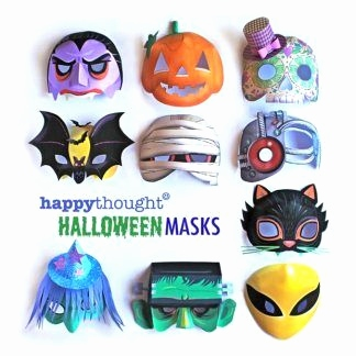 Halloween Masken Basteln Schön Printable Halloween Mask Templates to Make Alien Frankenstein Cat