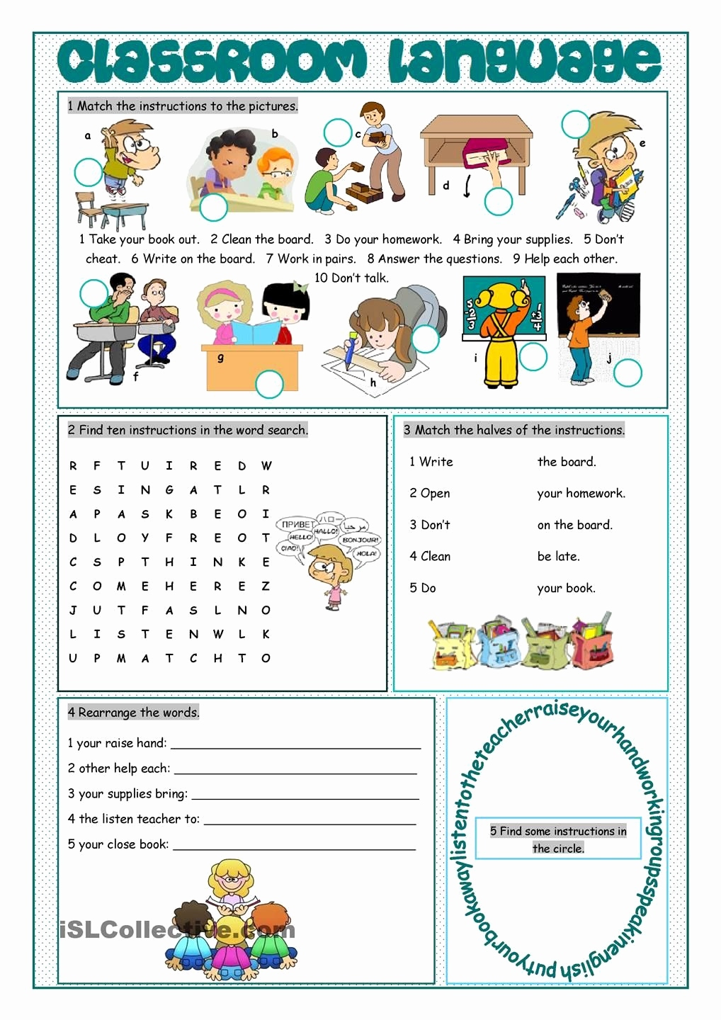 Hexen Hexen Unterricht Best Classroom Language Vocabulary Exercises Esl Worksheets