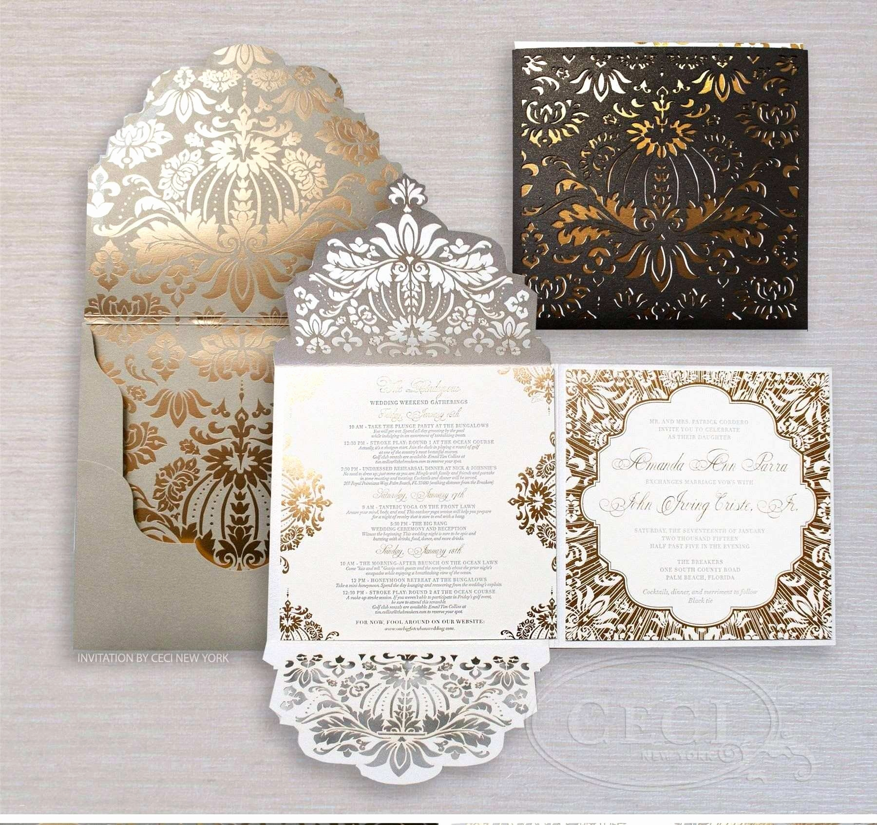 Hochzeits Danksagungskarten Neu the Five Invitations Beautiful Invitation Card Template Awesome Free