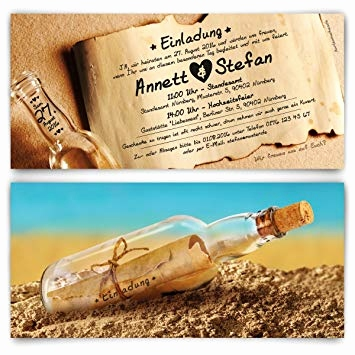 Hochzeitseinladung Text Standesamt Best Kartenmachen Wedding Invitation Cards Message In A Bottle