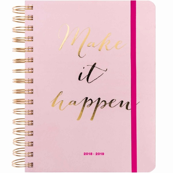 Kalender Basteln Ideen Monate Best Paper Poetry Agenda 2018 2019 Make It Happen Rosa 16 5x22cm Kaufen