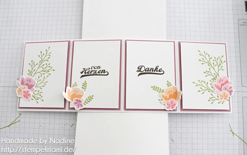 Karten Danke Best Stampin Up Anleitung Tutorial Twist Pop Up Panel Karte Card