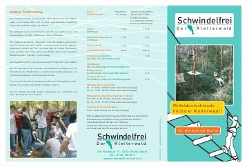 Kletterwald Bad Saarow Einzigartig Flyer Adventura Outdoor Rothe Kletterwald Rothenburg
