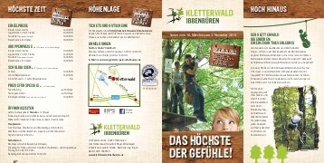 Kletterwald Bad Saarow Neu Flyer Adventura Outdoor Rothe Kletterwald Rothenburg