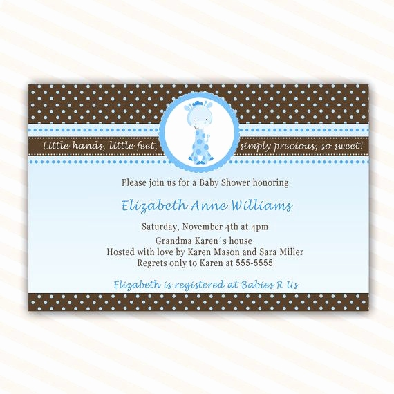 Minnie Mouse Einladungskarten Schön Custom Baby Shower Invitations Elegant Baby Shower Einladung