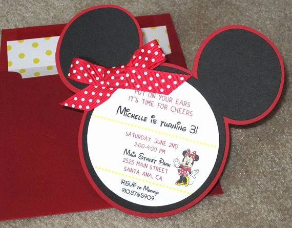 Minnie Mouse Einladungskarten Schön Minnie Mouse Invitation Via Etsy Disney Pinterest