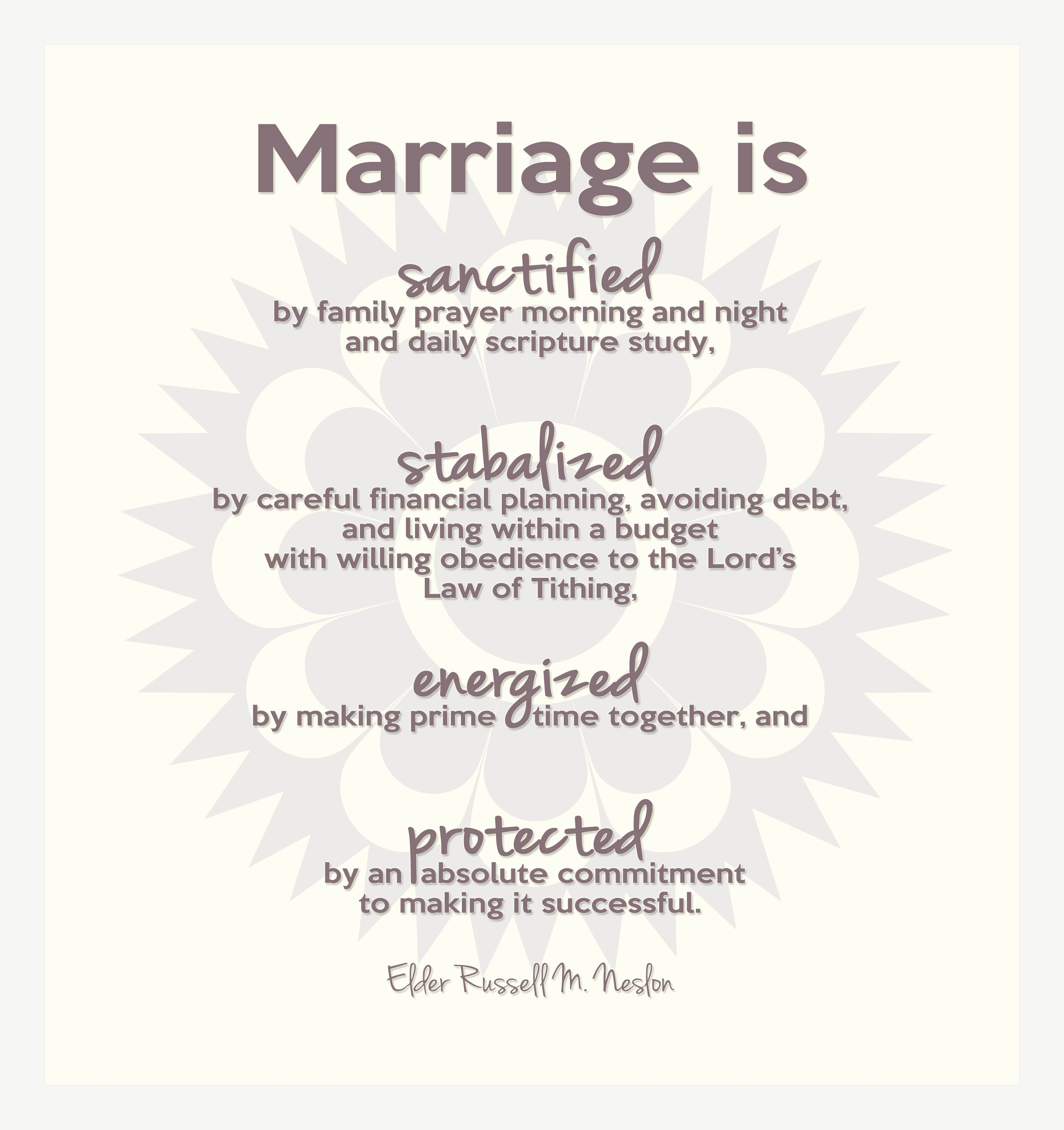 "Muttertagskarte Schreiben Elegant Marriage is "" by Elder Russell M Nelson the Talk In Its"