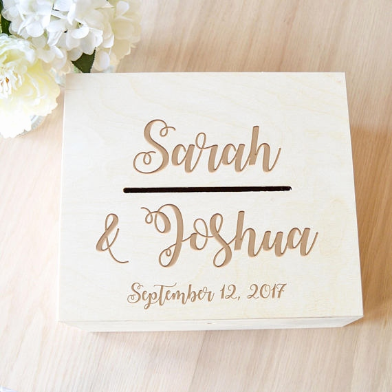 Personalisierte Karten Luxus Wedding Card Box Wedding Card Holder Rustic Card Box