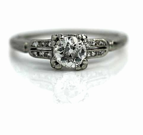 Postkarte Vintage Frisch Unique Vintage Art Deco Diamond Engagement Rings