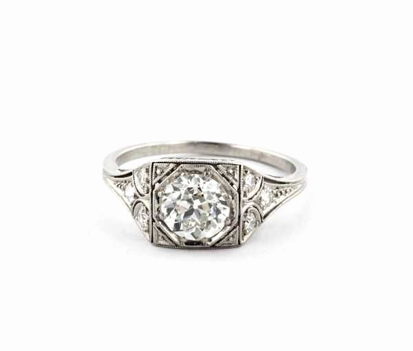 Postkarte Vintage Luxus Unique Vintage Art Deco Diamond Engagement Rings
