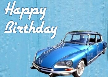 Schilder 30 Geburtstag Genial Happy Birthday Vintage Car Blue Happy Birthday
