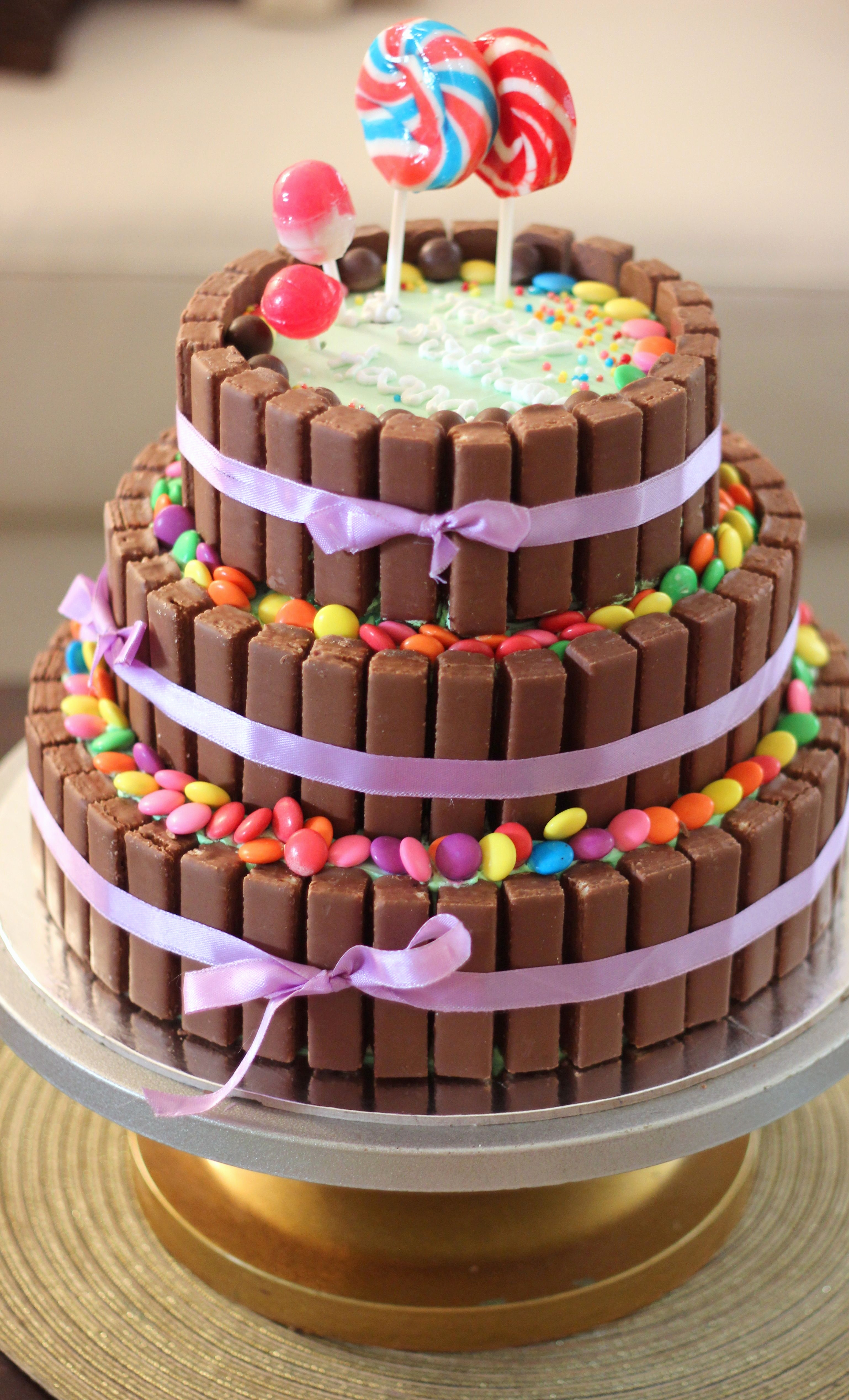Smarties Kuchen Mit Kitkat Elegant 3 Tier Chocolate Birthday Cake Kitkat Cake with the Kitkats