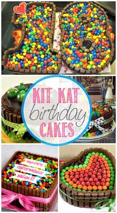 Smarties Kuchen Mit Kitkat Inspirierend Smartie Birthday Cake Mum In the Mad House Pinterest
