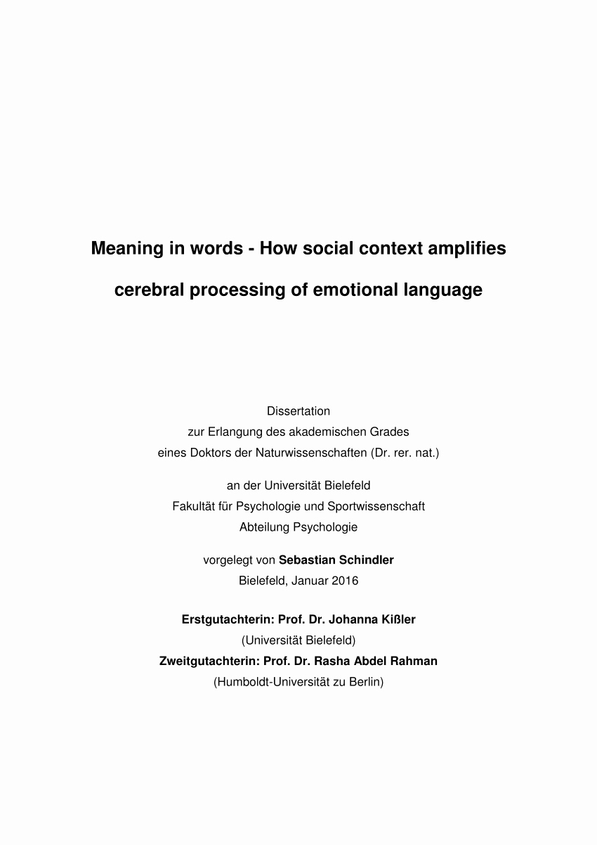 Trauerkarte Danksagung Elegant Pdf Meaning In Words How social Context Amplifies Processing Of