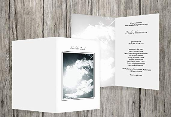 Trauerkarte Design Frisch Thank You Cards Sympathy Clouds White 50 Karten Amazon