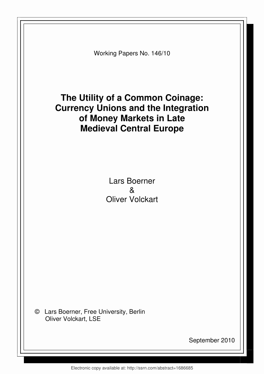 Urkunde Zum 60 Geburtstag Elegant Pdf the Utility Of A Mon Coinage Currency Unions and Financial
