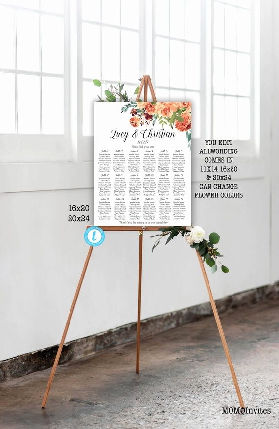 Wedding Tree Vorlage Einzigartig Floral Wedding Seating Chart Template Grey Wedding Seating