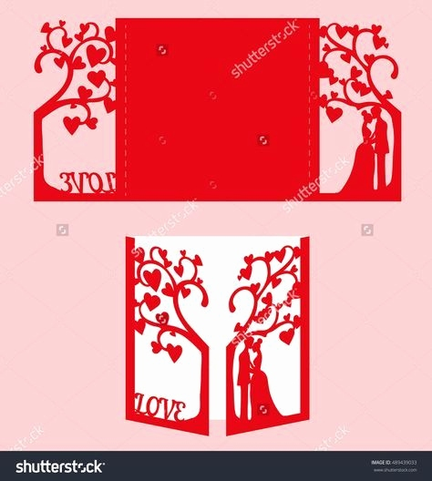 Wedding Tree Vorlage Inspirierend Stock Vector Wedding Invitation with Bride and Groom and Tree Paper