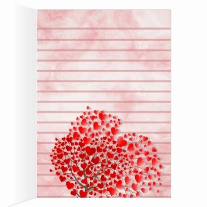 Wedding Tree Vorlage Schön Hearts and Tree Lined Note Card