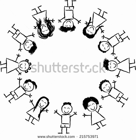 Weltkugel Zum Ausmalen Einzigartig Black and White Cartoon Vector Illustration Of Happy Multicultural