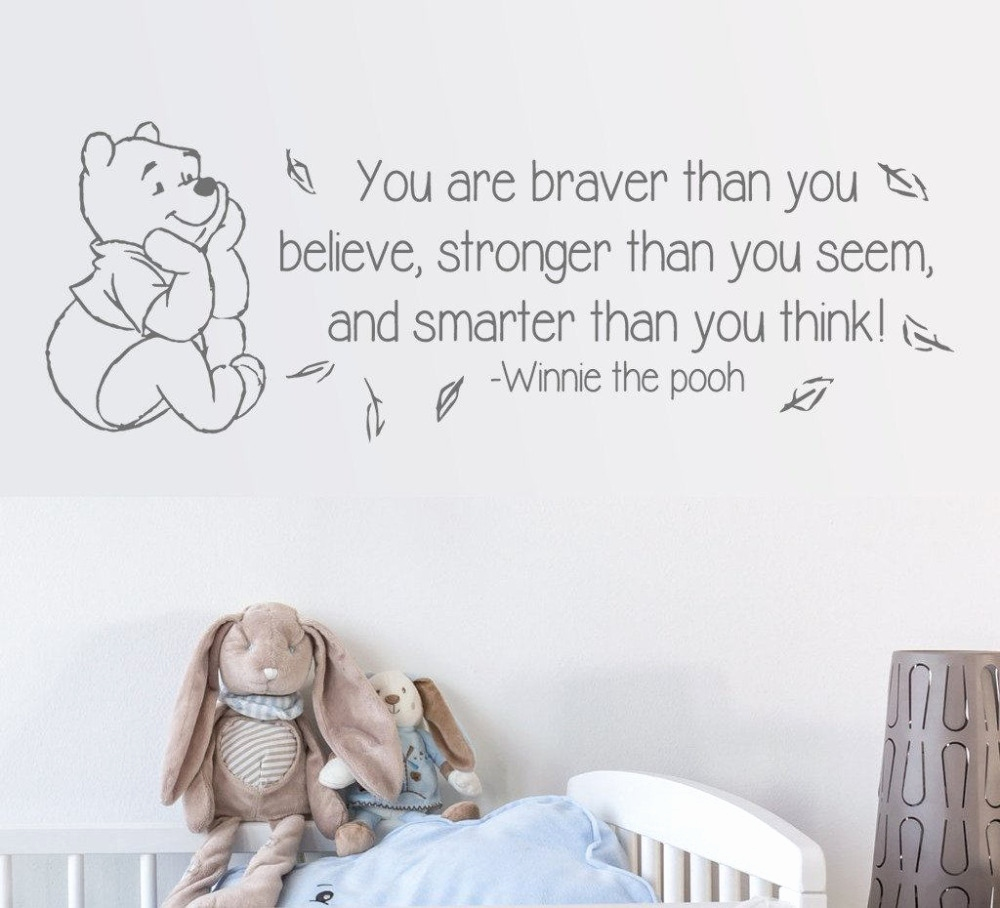 Winni Pooh Wandbilder Best Creative Cute Winnie the Pooh Wall Stickers for Kids Rooms Home
