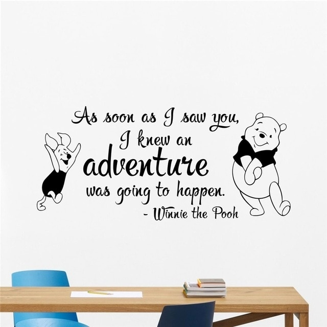 Winni Pooh Wandbilder Neu Free Shipping Winnie the Pooh Wall Decal Quote Lettering Vinyl